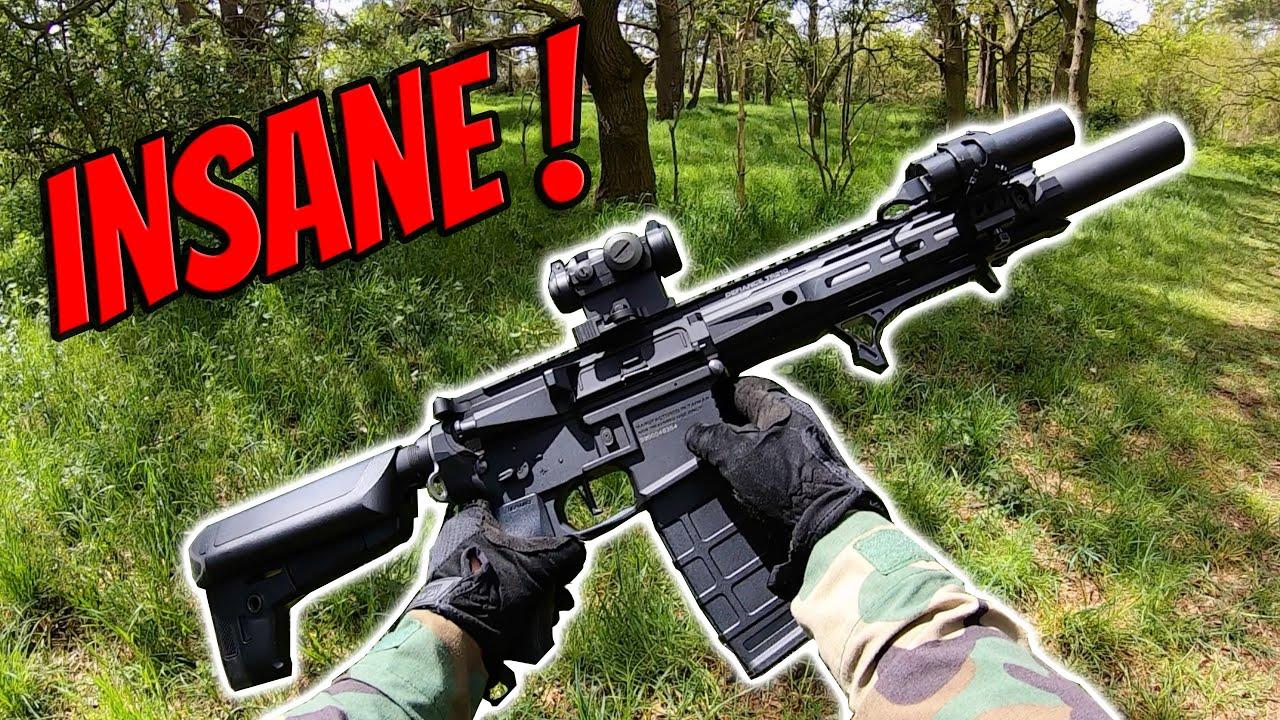 This Airsoft Gun is INSANE!!   Krytac Trident MK-II CRB Gameplay