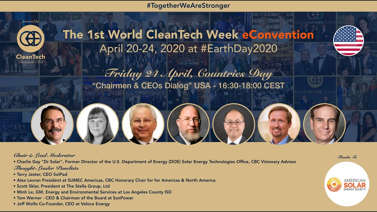 #CleanTech Chairmen & CEOs Dialog #USA at The 1st World CleanTech Week eConvention #1stWCWeC
