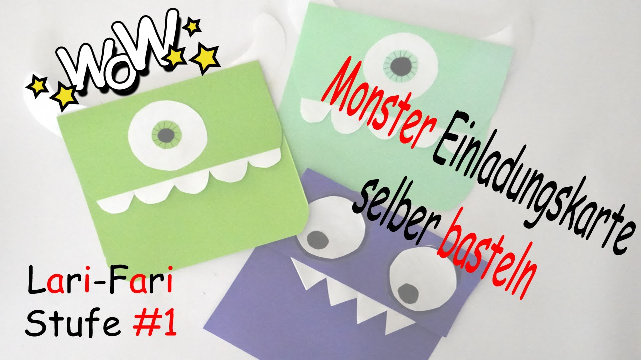 monster einladungskarte basteln diy mike aus monster ag selber machen aus papier youtube. Black Bedroom Furniture Sets. Home Design Ideas
