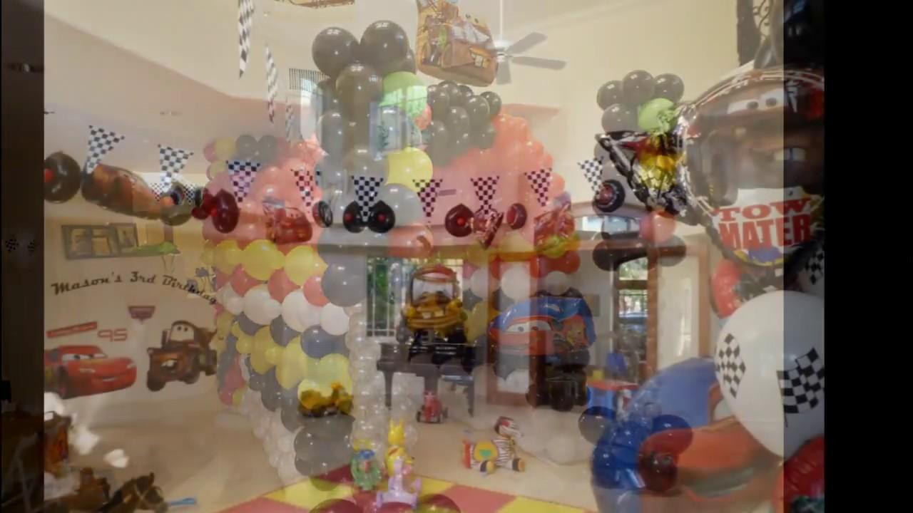 Birthday decor disney cars theme dreamark events for Balloon decoration cars theme