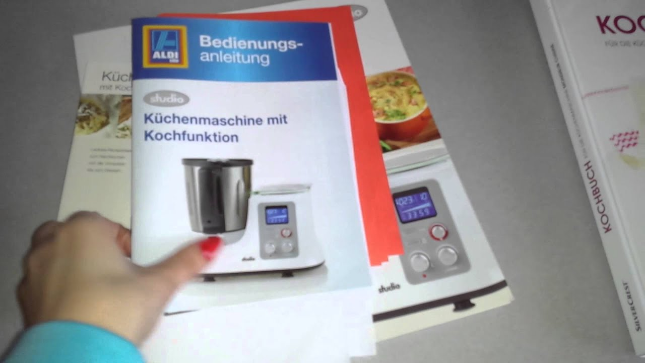 Bedienungsanleitung und Kochbuch Zubehör, Aldi Lidl Küchenmaschine Monsieur  Cuisine, Studio