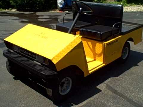 TAYLOR DUNN 36 Volt Electric Golf Cart Utility Car  YouTube