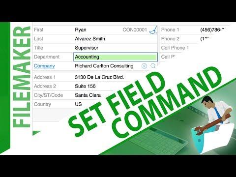 My First Script - Set Field Command - Try FileMaker Video Series - FMTraining.TV - Video 46