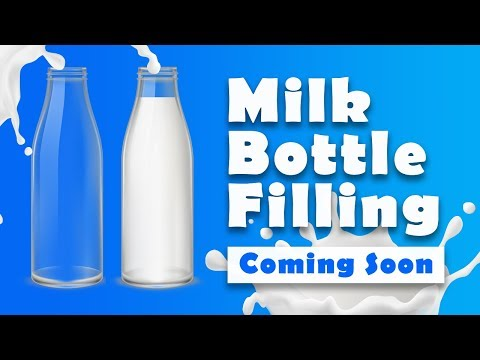 Filling Bottle With Milk - Html CSS And Javascript Effects - Coming Soon