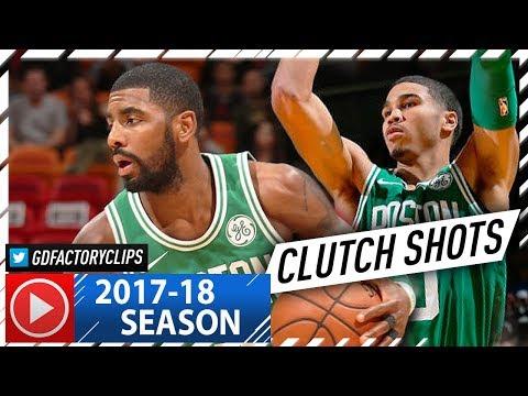 Kyrie Irving & Jayson Tatum Full Highlights vs Heat (2017.10.28) - 44 Pts, Kyrie is CLUTCH!