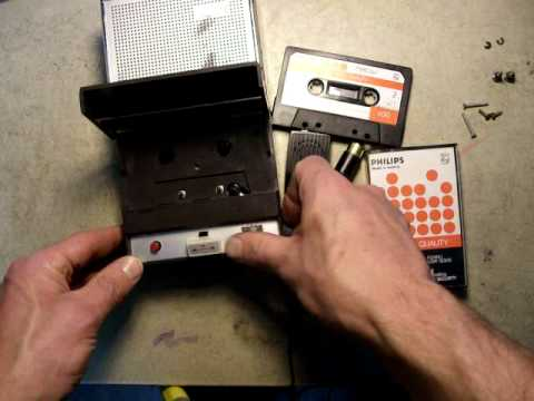 Philips first cassette player recorder of 1963