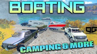 Farming Simulator 2015 - Going Boating and Camping!!
