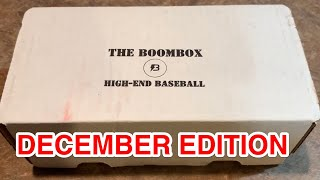 HIGH END BOOM BOX BASEBALL OPENING!  (DECEMBER 2019 EDITION)