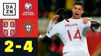 Cristiano Ronaldo & Co. feiern ersten Quali-Sieg: Serbien - Portugal 2:4 | EM-Quali | DAZN