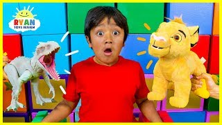 Download Ryan Pretend Play with The Lion King Simba takes over Pride Rock!!! Mp3 and Videos