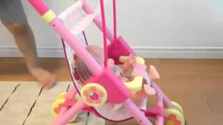 BÉ CHO BÚP BÊ NGỒI XE NÔI - ĐỒ CHƠI NHẬT BẢN - BABY DOLL STROLLER - toy for children.mp4