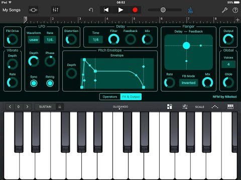 NFM Synthesizer AUv3 with Garagband Demo for the iPad