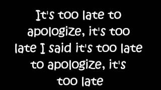 Timbaland - Apologize ft. One Republic (chipmunks version) with lyrics
