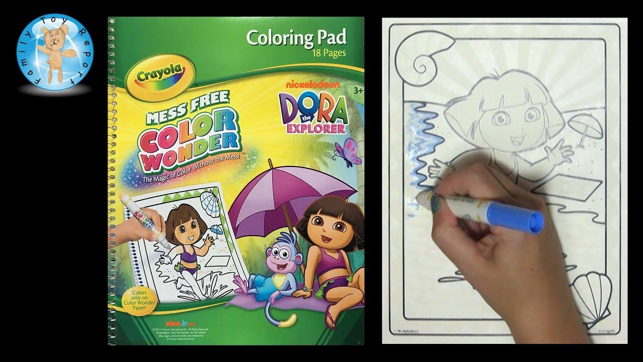 Crayola Color Wonder Nickelodeon Dora The Explorer Coloring Book