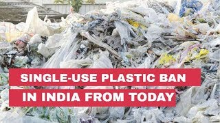 Single-use plastic ban in India from 2nd October