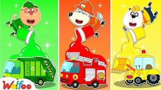 🔴 LIVE: وولفو يتعلم ألوان قوس قزح ويستمتع بلعب السيارات الجديدة | وولفو فاميلي كيدز كارتون