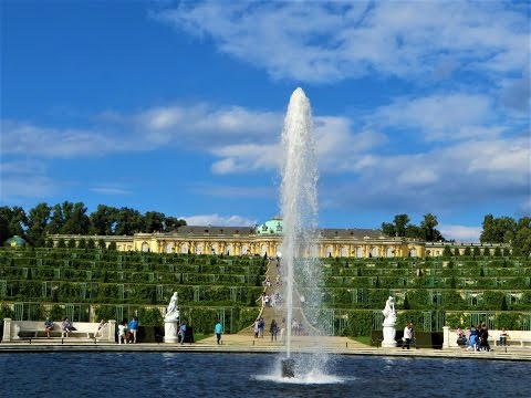 Sanssouci - (Schloss Sanssouci) Palace grounds & gardens in Potsdam, Germany