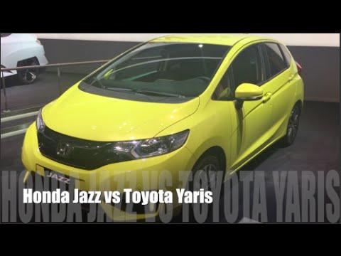 honda jazz 2015 vs toyota yaris 2015 - youtube