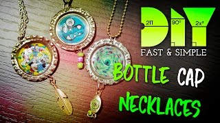 LEARN HOW TO MAKE: BOTTLE CAP NECKLACE  | DIY!  | FULL HD