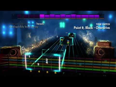 """Learn to play """"Paint It, Black"""" by The Rolling Stones on guitar or bass using Rocksmith"""