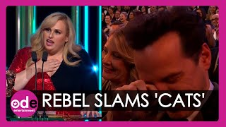 Baftas: Rebel Wilson jokes about 'Cats' during very funny awards speech