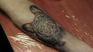 Sokolov Tattoo Timelapse - French Bulldog