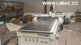 CNC machine for pre insulated phenolic foam duct panel by LIMAC China