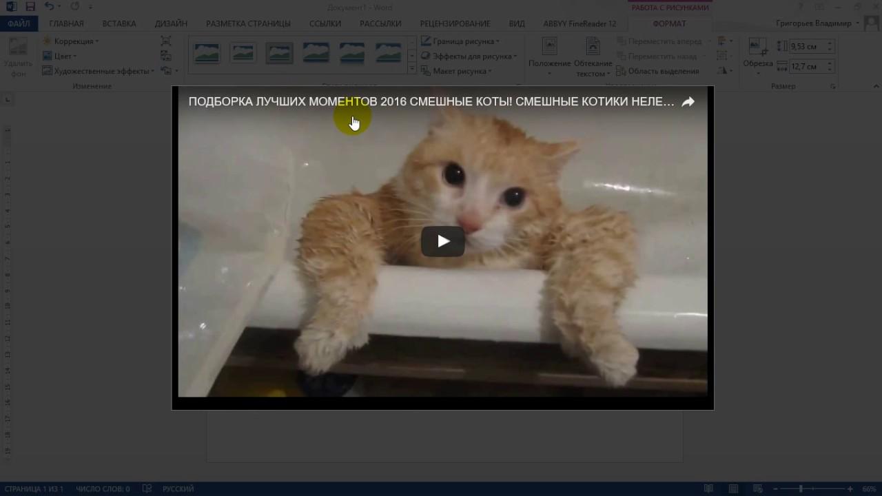 КАК вставить видео с ютуба в ворд - YouTube