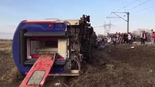 Tren Kazasının Ilk Görüntüleri
