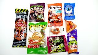 Crazy Candy Collection with Gummy Burger Super Chewy Rats Candy and Eye Marshmallow