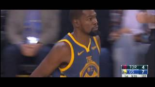 767533d34f30 Golden State Warriors vs Raptors Kevin Durant highlights 93-113 2018