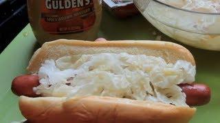 "Coney Island Hot Dog With ""sauerkraut"" - Quick Microwave Trick"