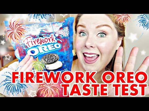 Taste Testing Firework Oreos! - Limited Edition Popping Candy Filling!