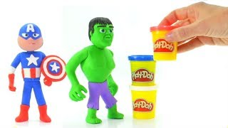How To Make Superheroes With Play-Doh ❤ Cartoons For Kids