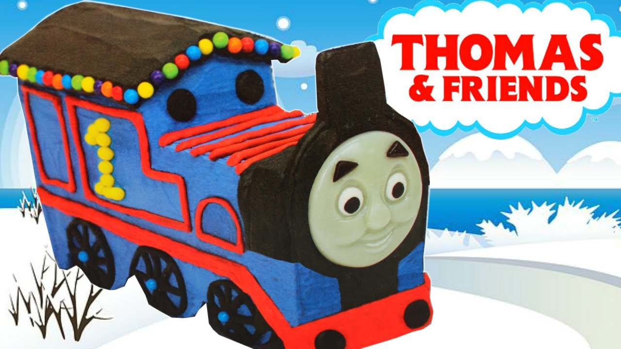 THOMAS TANK ENGINE GINGERBREAD TRAIN CHRISTMAS 2015 LETS BUILD AND ...