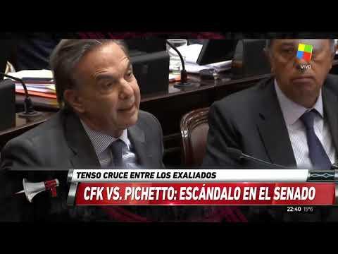 Pichetto a Cristina en el Senado: Su orgullo es infinito