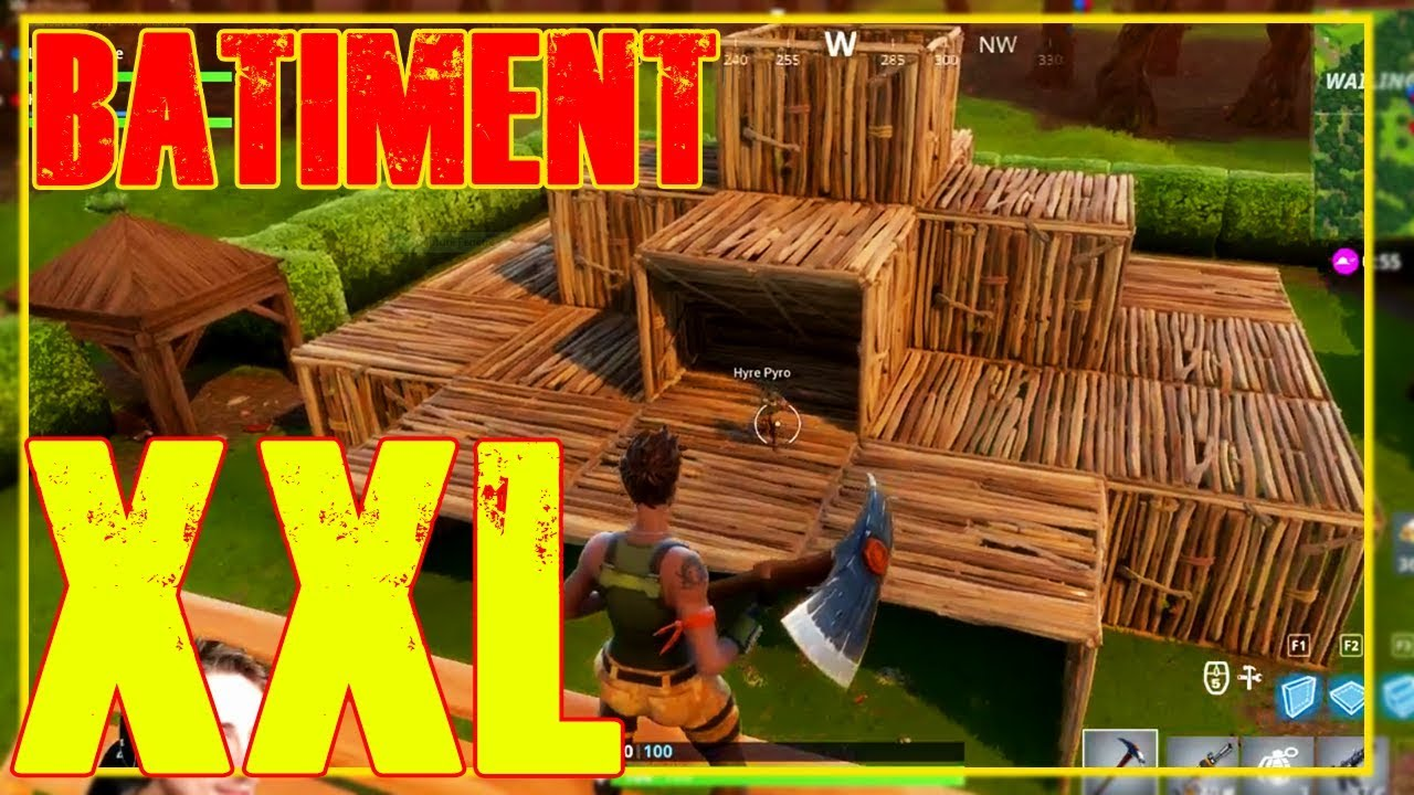 Faire une construction xxl sur le jeu fortnite youtube - Jeu de creation de maison ...