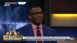 Skip and Shannon SHOCKED Warriors end Blazers