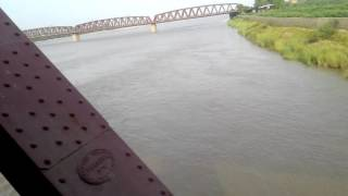 Crossing river sindh by business express train 2016