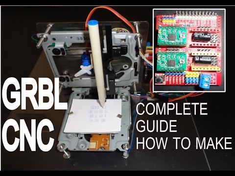 How to make GRBLCNC V3 Shield Arduino based Mini CNC machine a Complete Giude  YouTube