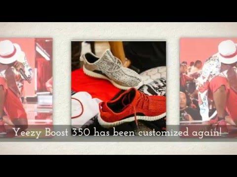 24aa495e9e3ba Red Roshe Yeezy Boost 350 - YT