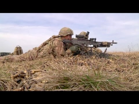 US Army Conducts Live Fire Training In Germany