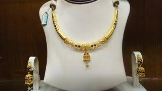 Gold  এর হাল্কা ওজনের গলার হার কালেকশন /Gold jewelry /Gold simple Har collection.