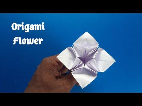 কাগজের ফুল || How to make a Flower (Origami) || Tutorial #279