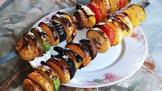 Как правильно приготовить шашлык из картошки. Очень вкусно и оригинально.