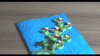 DIY~Greeting Card~Paper Quilling~Simple Steps