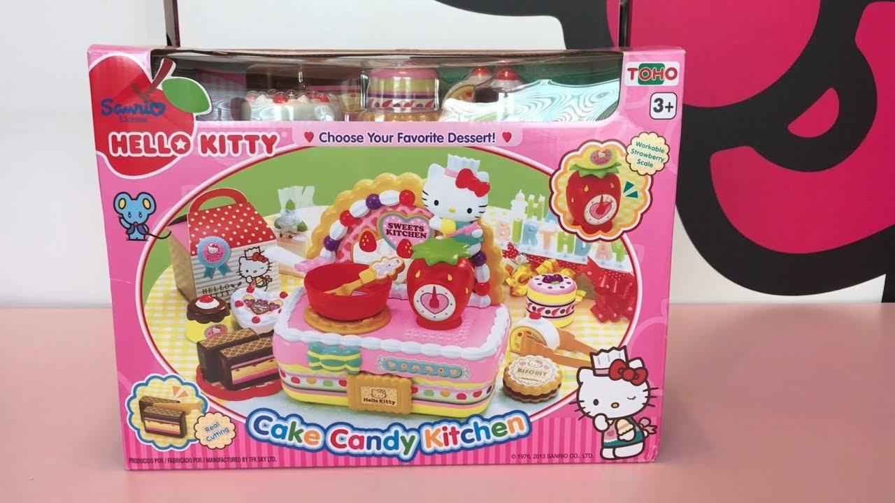 hello kitty cake candy kitchen  youtube