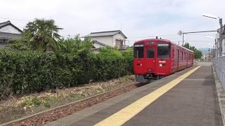 キハ220形(1両) 臨時普通列車 久留米行(9852D) 久留米高校前駅到着