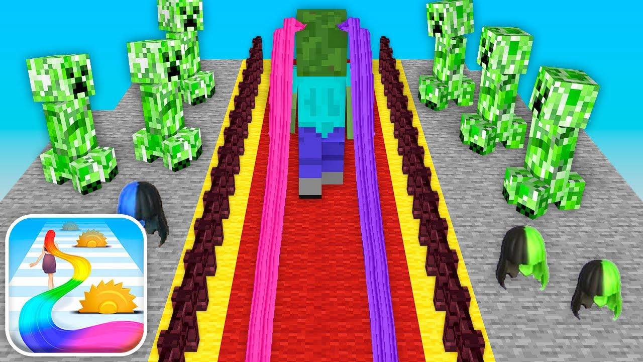 Monster School : Hair Challenge Mobile Game - Minecraft Animation