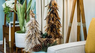 DIY Feather Christmas Trees - Home & Family